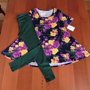 LULAROE OUTFIT! S- PERFECT-T TOP & OS- LEGGINGS